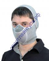Тепловая маска Шарф арт. ТМ 3.1. (серый) САЙВЕР SAYVER