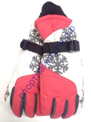 """Перчатки женские """"Снежинка"""" красные"""