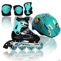 Комплект роликовых коньков Amigo COMBO SET Blue